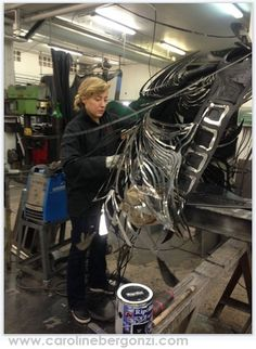 Art studio glimpse: Welding thru #CarolineBergonzi eyes…   Ref. Photo: Folding