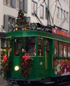 The Spirit of Christmas Lives in the Basel Switzerland Christmas Market Basel, Switzerland tram near the Christmas Markets Christmas In The City, Christmas Train, Christmas Lights, Christmas Mood, Xmas, Zermatt, Lugano, Switzerland Christmas, Christmas Markets Europe