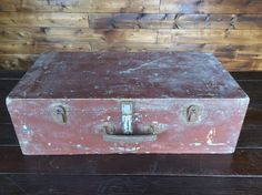 Vintage French Lockable Wood Storage Box Luggage Purchase in store here http://www.europeanvintageemporium.com/product/vintage-french-lockable-wood-storage-box-luggage/