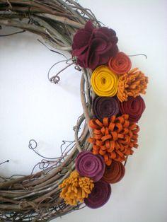 fall flower wreath