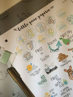 Baby Milestones Planner Stickers Pregnancy by LittlePixiePaperie