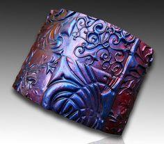 Oxidized copper polymer clay cuff bracelet by adrianaallenllc