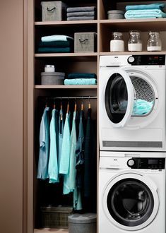 New Laundry Range Stacked Washer Dryer, Washer And Dryer, Laundry, Home Appliances, House, Laundry Room, House Appliances, Home, Washing And Drying Machine