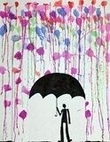 Artsonia Art Exhibit :: Rainstorm Silhouettes