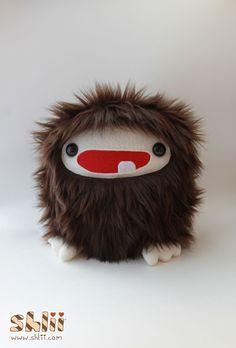 Baby Bigfoot Sasquatch Furry Monster Plush by ShliiKawaii on Etsy, $35.00