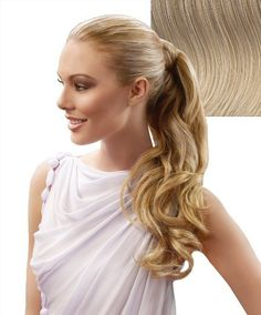 23 Inch Wrap Around Pony Extension By Jessica Simpson - R14/88H Golden Wheat by HairDo. $30.00. A long strip of wrap around hair securely connects with a velcro attachment. 23 inches of heat-friendly synthetic hair. Create a show-stopping ponytail by adding in length, body and shine to your hair. Easy, do-it-yourself application. Hairdo's Tru2Life synthetic fiber can be styled with heat tools up to 350 degrees Fahrenheit for endless styling options. The 23 Inch W...