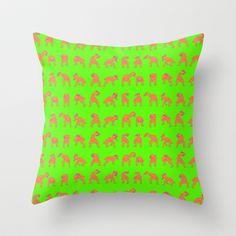 Dutty Wine Orange & Pink Throw Pillow by Robin Clare