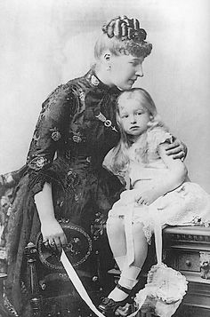 Princess Louise of Belgium with little Dorothea?  Coming from a very troubled houshold she was not a good mother.