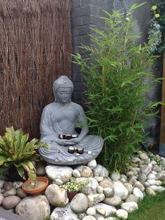 Awesome Buddha Garden Ideas to Ad Sacredness of Your Home Environment - Bamboo garden - Garden Japanese Garden Backyard, Small Japanese Garden, Zen Rock Garden, Mini Zen Garden, Zen Garden Design, Magic Garden, Japanese Garden Design, Diy Garden, Garden Projects