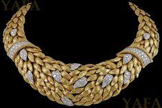 DAVID WEBB Two Tone Diamond Necklace
