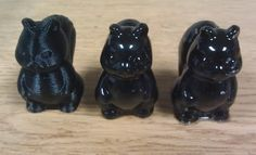 3D Printed squirrels.