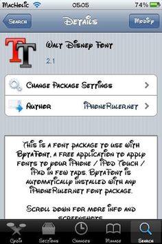 Walt Disney font for your iPhone  Mau ??