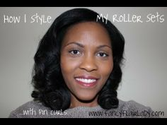 Using Pin Curls to Style My Rollersets (Tutorial) --she has relaxed hair but this may be useful.