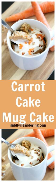 Carrot Cake Mug Cake – A perfect one-serving dessert that tastes just like a carrot cake! It is a delicious treat that is sure to be a new favorite!
