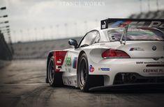 BMW Z4 GTE. ALMS (American Le Mans Series) Race Car.