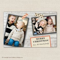 Photo Christmas card shabby chic holiday card by saralukecreative, $15.00