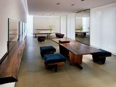 George Nakashima - shelf, table and bench seats