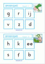 Letterspel - Kikker in de kou – letterkaarten