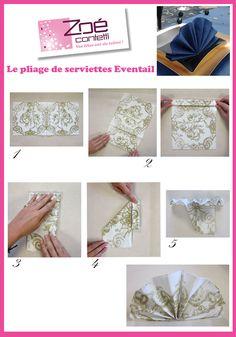 Trois pliages de serviettes faciles pour vos tables de fête !  ZOE ...