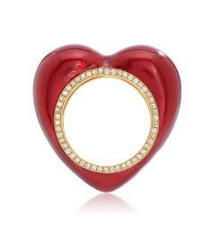 Red enamel and white diamonds