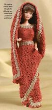 W641 Crochet PATTERN ONLY Fashion Doll India Sari Outfit Pattern