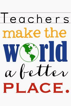 """Family Ever After....: Free Printable: """"Best Teacher in the World"""""""