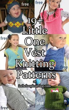Knitting Patterns for Baby and Child Vests. Most patterns are free.