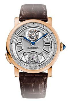 Cartier Rotonde de Cartier Minute Repeater Flying Tourbillon Men's Watch W1556229