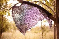 Morrígan Shawl by Beata Jezek. 787 yards of lace-weight yarn. Free pattern from designer's website