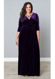 Wrapped in Luxury Evening Gown in Purple Quartz