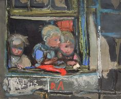Eardley was trying to capture the community feeling of Glasgow's back streets in her paintings, something she felt was rapidly disappearing. Henri Matisse, Vincent Van Gogh, Monet, Original Paintings For Sale, Glasgow School Of Art, Popular Artists, Figure Painting, Figurative Art, Illustration Art