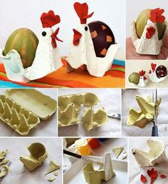 Diy Crafts for Kids Fresh Egg Carton Hens Cute for Easter Crafting. Easter Activities, Easter Crafts For Kids, Toddler Crafts, Diy For Kids, Spring Crafts, Holiday Crafts, Ester Crafts, Egg Carton Crafts, Diy Ostern