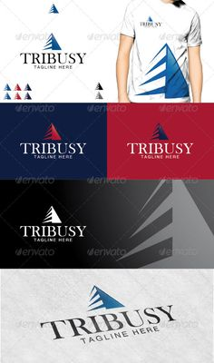"""Tribusy Logo  #GraphicRiver         Tribusy Logo is a business and professional logo, that shows a symbol of """"Triangle"""", suitable to any kind of companies and agencies.   Featured : – Ai CS2 document / EPS CS2 . – CMYK – 100%. – Easy to edit color / text. – 3 Variations.  Fonts used : Baskerville Old Face & Helvetica  .myfonts /fonts/urw/baskerville-old-face/  .fonts /font/linotype/helvetica  Note: (The mock up file is not included, that's only for preview purpose)!     Created…"""