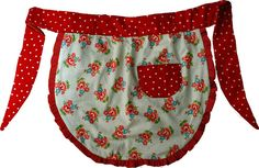 Make your own cottage chic apron!!  If I EVER learn how to sew, this would make for some super cute Christmas gifts.  :)