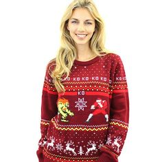 Street Fighter Blanka Vs. M.Bison Christmas Jumper / Sweater - Numskull