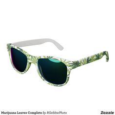 Marijuana Leaves Complete Sunglasses $109.00 #Cannabis #Happy420 #MMJ #Zazzle Nine point Marijuana leaves. Cannabis is recognized legally in several US states, mostly for medical purposes, but some are recognizing recreational use as well. Medical Pot smokers, medical patients, recreational, stoners, and hippies love our pot! See the rest of our Cannabis and 420 related designs in our store!