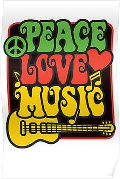 Rasta Peace, Love, Music Poster