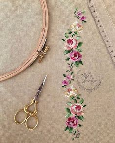 This Pin was discovered by Yur Cross Stitch Kitchen, Cross Stitch Love, Cross Stitch Borders, Modern Cross Stitch Patterns, Cross Stitch Flowers, Cross Stitch Designs, Cross Stitching, Diy Embroidery, Cross Stitch Embroidery