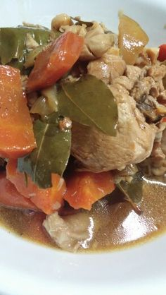 Chicken with carrots adobo
