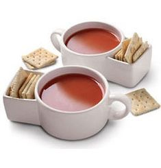 Soup and cracker mugs....great idea