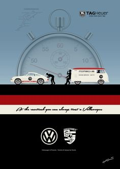 VW PORSCHE Illustration - For more illustrations see: https://www.facebook.com/retrosplitcom