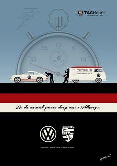 VW PORSCHE Illustration - For more illustrations see: https://www.facebook.com/retrosplitcom