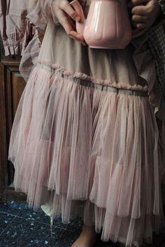 Mon jupon en tulle vieux rose...