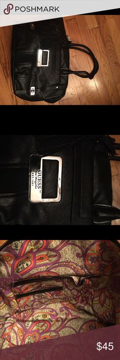 New with tags Black with silver detail Guess bag New with tags Black Guess bag with silver detailing Guess Bags Hobos