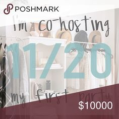•Update 💖- Party is on• Thanks for all the support! It looks like the Poshmark team has corrected its mistake. We're all human and it happens :) I'm so thrilled to co-host tonight. Im still on the hunt for a few more HP's!   Theme: Weekend Getaway Party Date: November 20, 2016 @ 9PM CT Posh Party Other