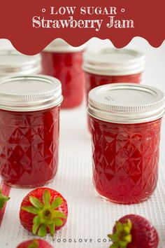 Making your own jam is pretty easy, and once you try it, you will never want to go back to store bought jam.#jam #jelly #preserves #strawberryjam #nosugarjam Blueberry Crumble Bars, Strawberry Oatmeal Bars, Strawberry Jam, Strawberry Recipes, Lemon Desserts, Healthy Dessert Recipes, Fruit Recipes, Easy Recipes, Amish Recipes