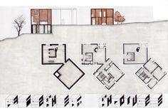 Louis Kahn, fisher house #arquitecturadibujos #arquitecturaviviendas
