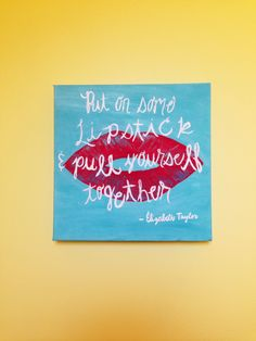 Painted a canvas for my bathroom :)