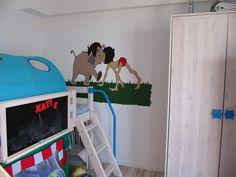 Hand painted wall mural kids Pereti pictati manual camera copiilor