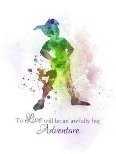 Illustration de Peter Pan citation ART PRINT, Big Adventure, Disney, Art mural, décoration d'intérieur